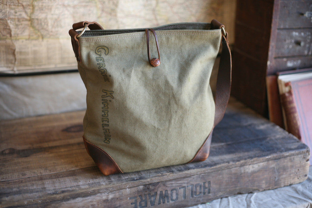 WWII era Canvas Side Bag - SOLD