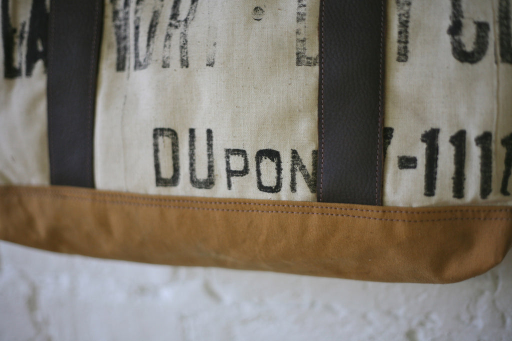 1930's era Cotton & Canvas Carryall