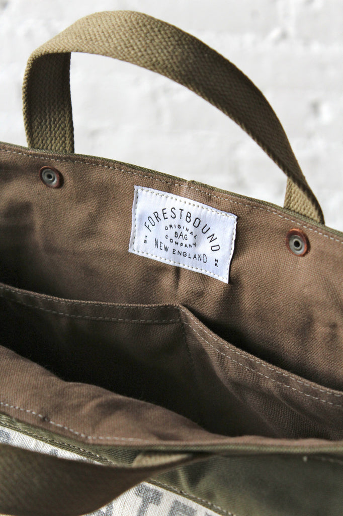 WWII era Canvas and Work Apron Tote Bag