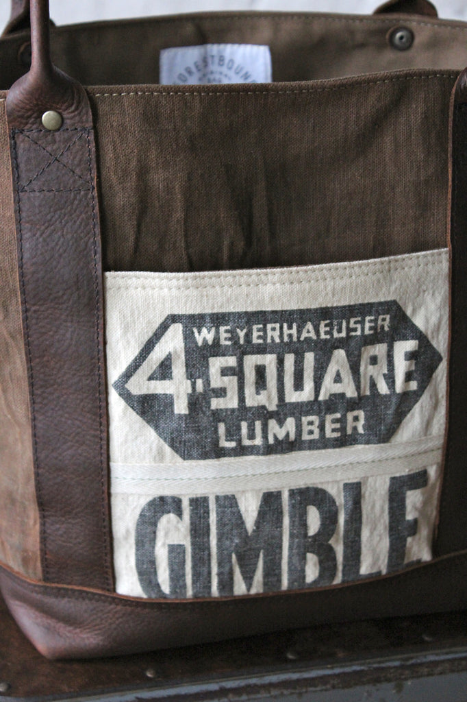 World War 1 era Canvas and Lumber Apron Carryall