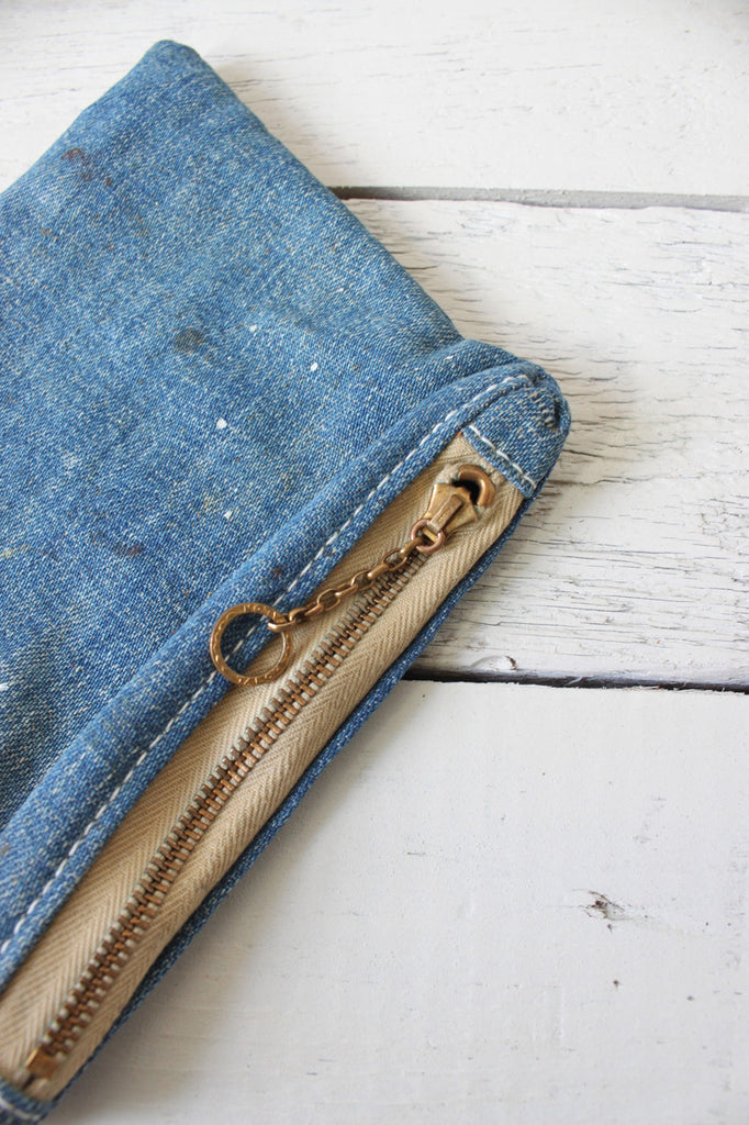 WWII era US Navy Denim Utility Pouch