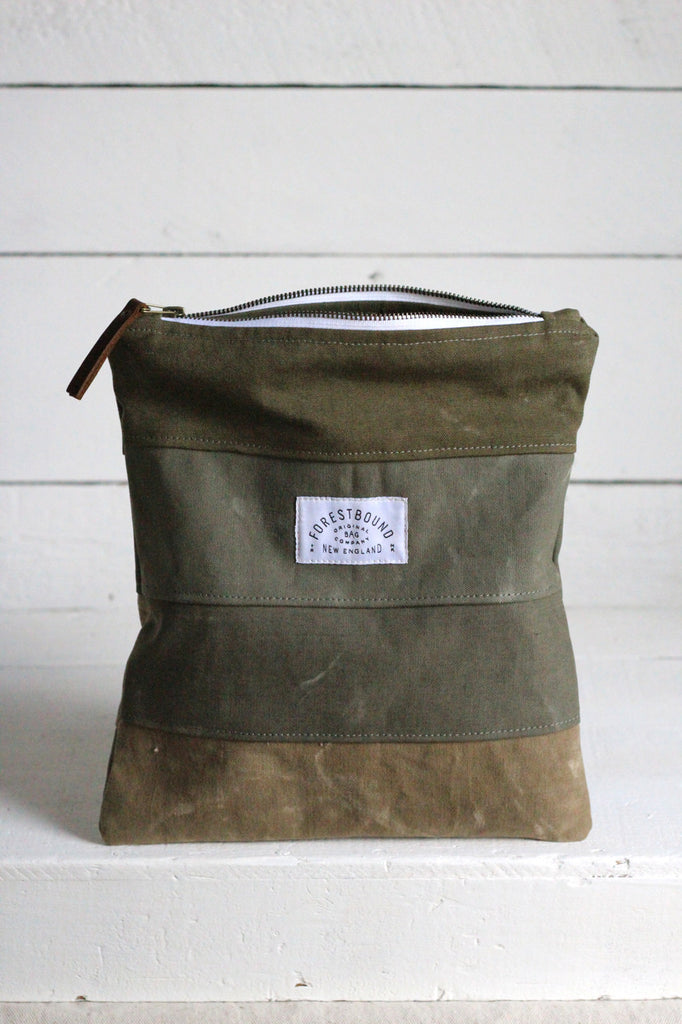 WWII era Striped Canvas Utility Pouch