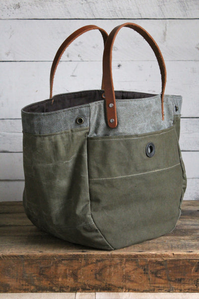 Wwii Era Convertible Canvas Tote Bag Forestbound