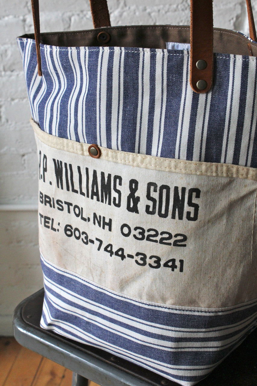 98d95a7a6 Liberty Stripe Cotton and Work Apron Tote Bag - FORESTBOUND