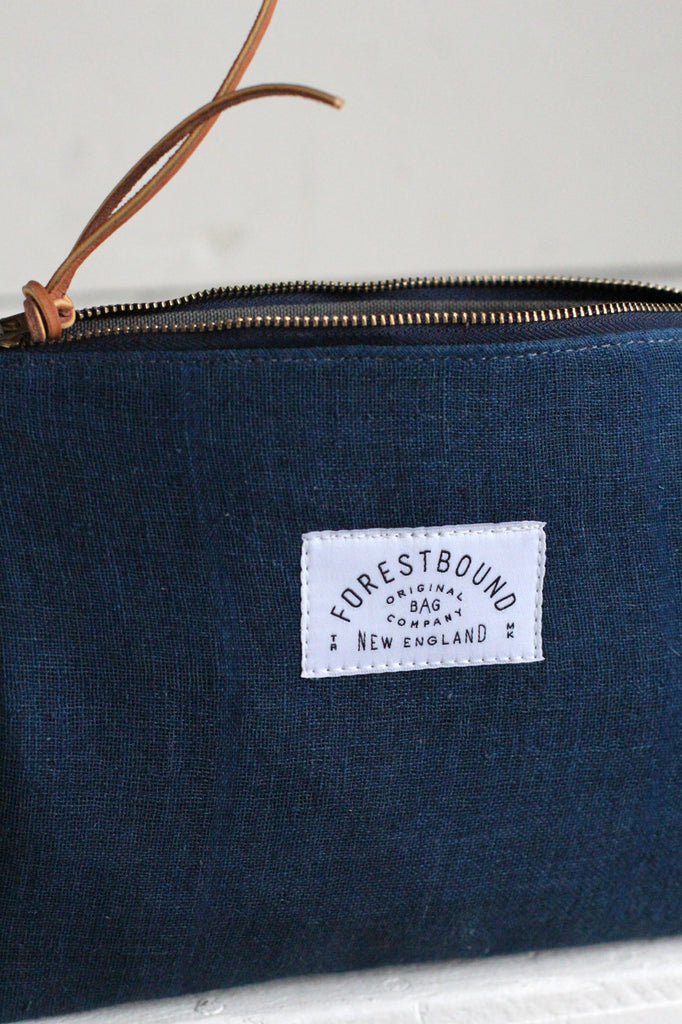 Early 1900's Indigo Dyed Hemp Utility Pouch