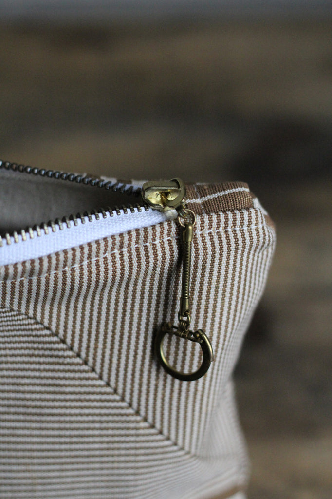 Deadstocked Striped Canvas Utility Pouch