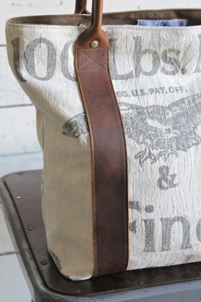 1940's era Feed Sack Carryall