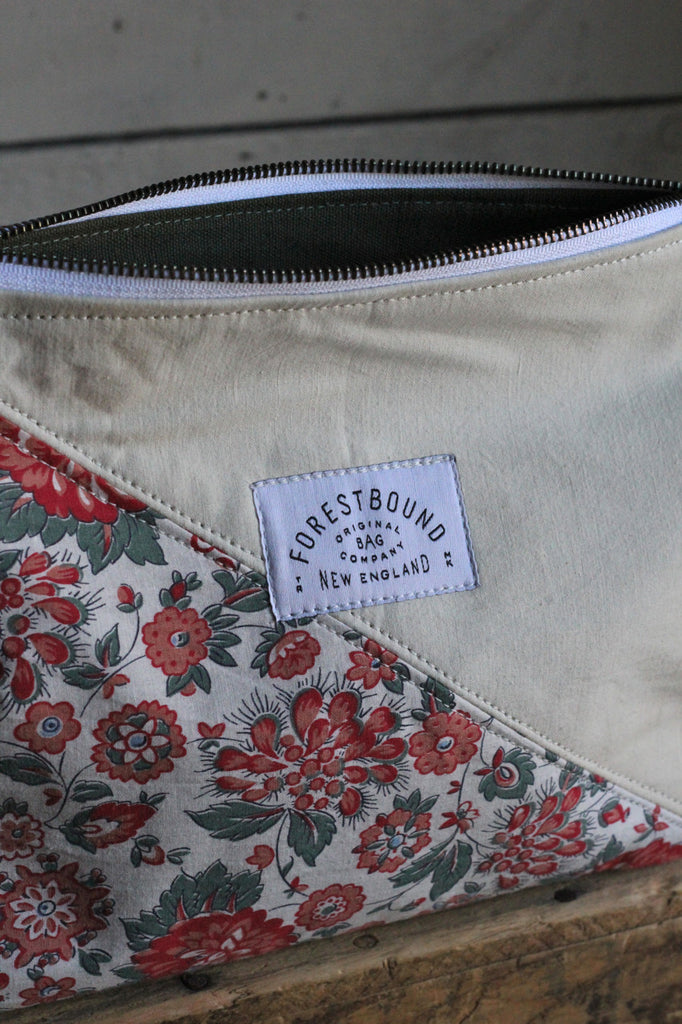 1930's era Floral Feed Sack Utility Pouch