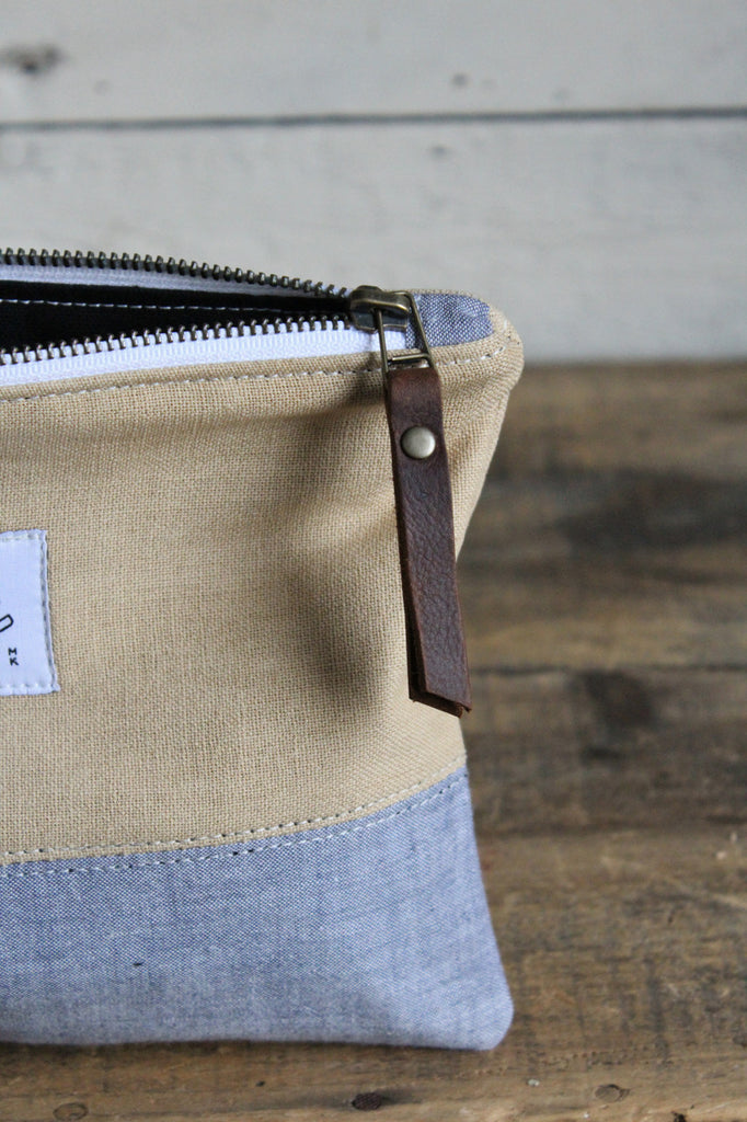 1930's era Canvas & Chambray Utility Pouch