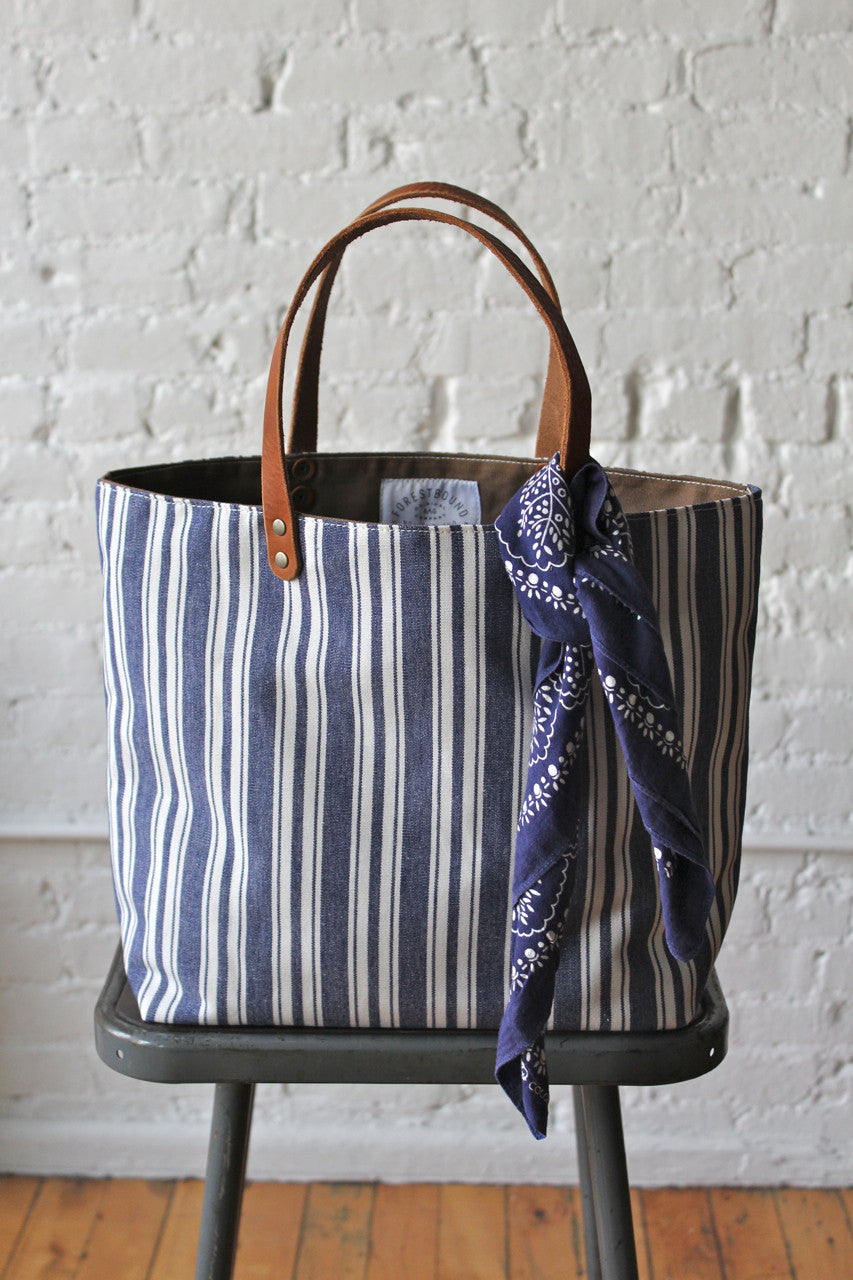 ad2e43aa5 Liberty Stripe Cotton Tote Bag - FORESTBOUND