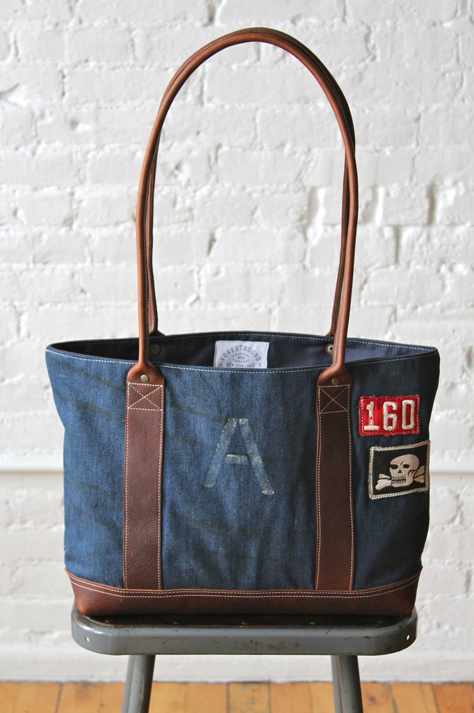 WWII era US Navy Denim Carryall