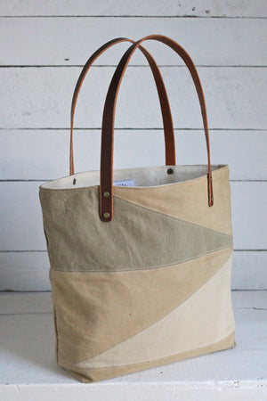 WWII era Canvas Sunburst Tote Bag