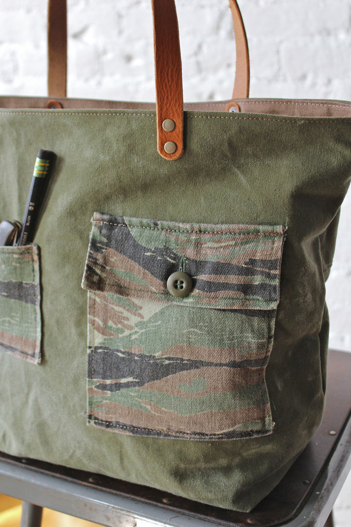 WWII era Canvas & Camo Carryall