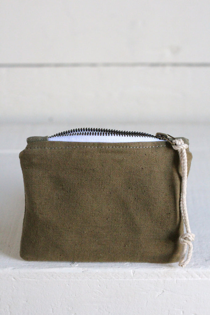 WWII era Canvas Mini Utility Pouch