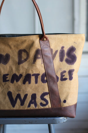 Extra Large WWII era Canvas Carryall