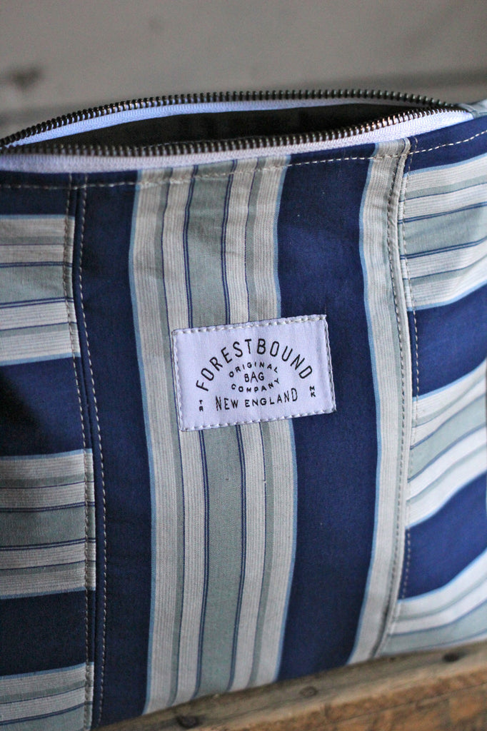 1940's era Blue Striped Utility Pouch