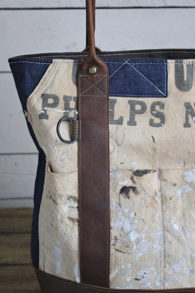 WWII era Denim & Lumber Apron Carryall