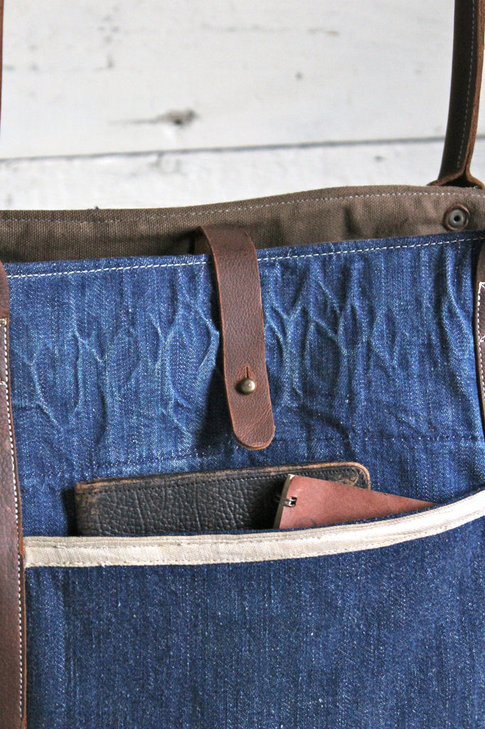 WWII era Denim and Apron Carryall