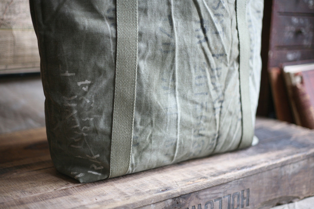 WWII era Canvas and Denim Carryall - SOLD