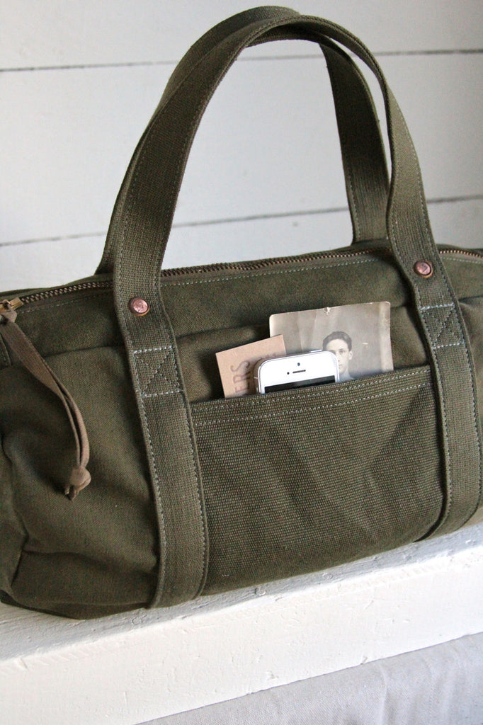 WWII era Canvas Duffle Bag