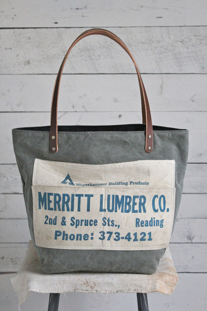 WWII era Canvas Pocket & Apron Tote Bag