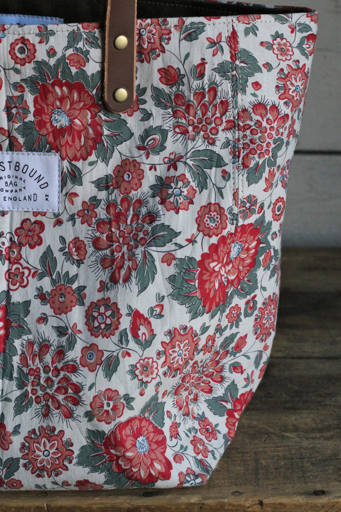 1930's era Floral Feed Sack Tote Bag