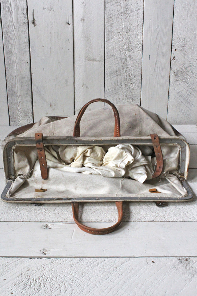 Canvas and Leather Tool Bag
