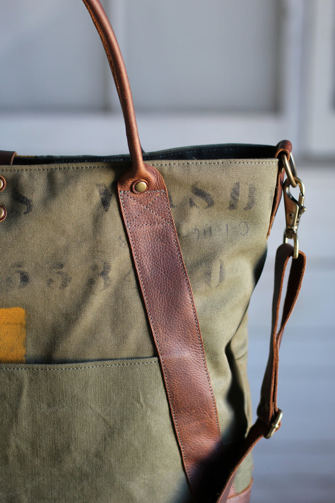 WWII era Canvas Weekend Bag