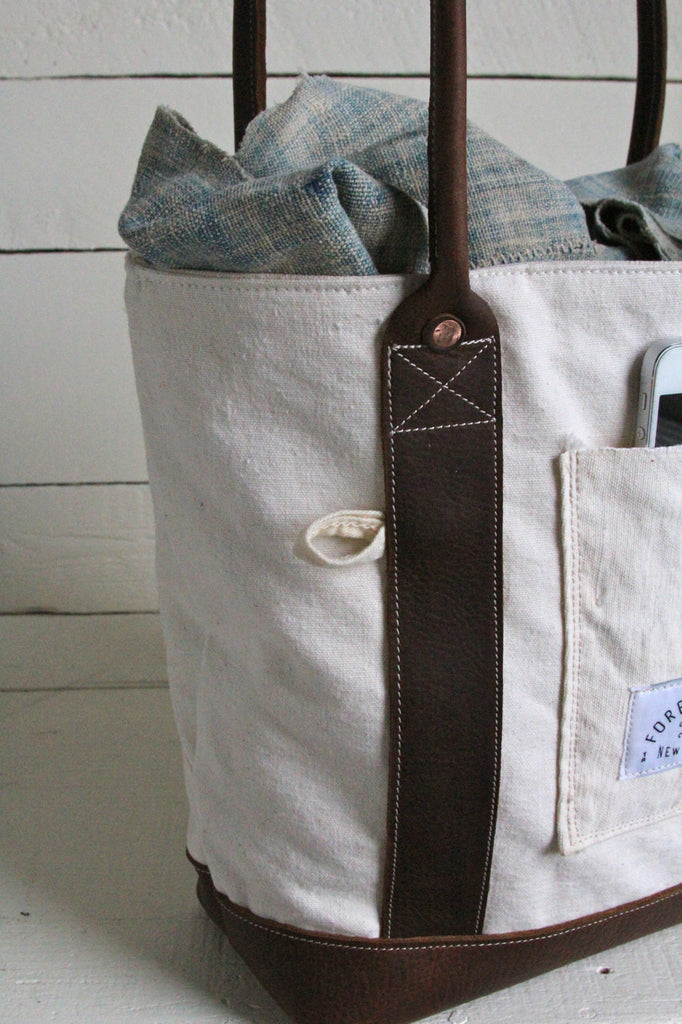 1950's era Canvas and Leather Carryall