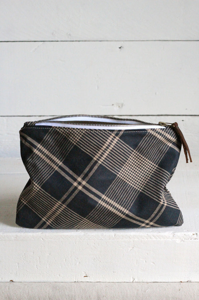 Deadstock Blue Plaid Utility Pouch