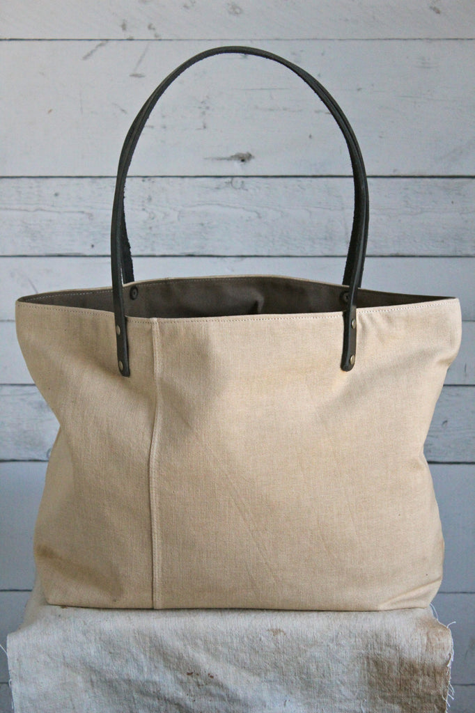 1930's era Canvas Pocket Tote Bag