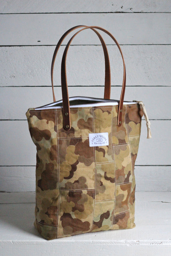 The Rambler Tote / 1950's era Cloud Camo