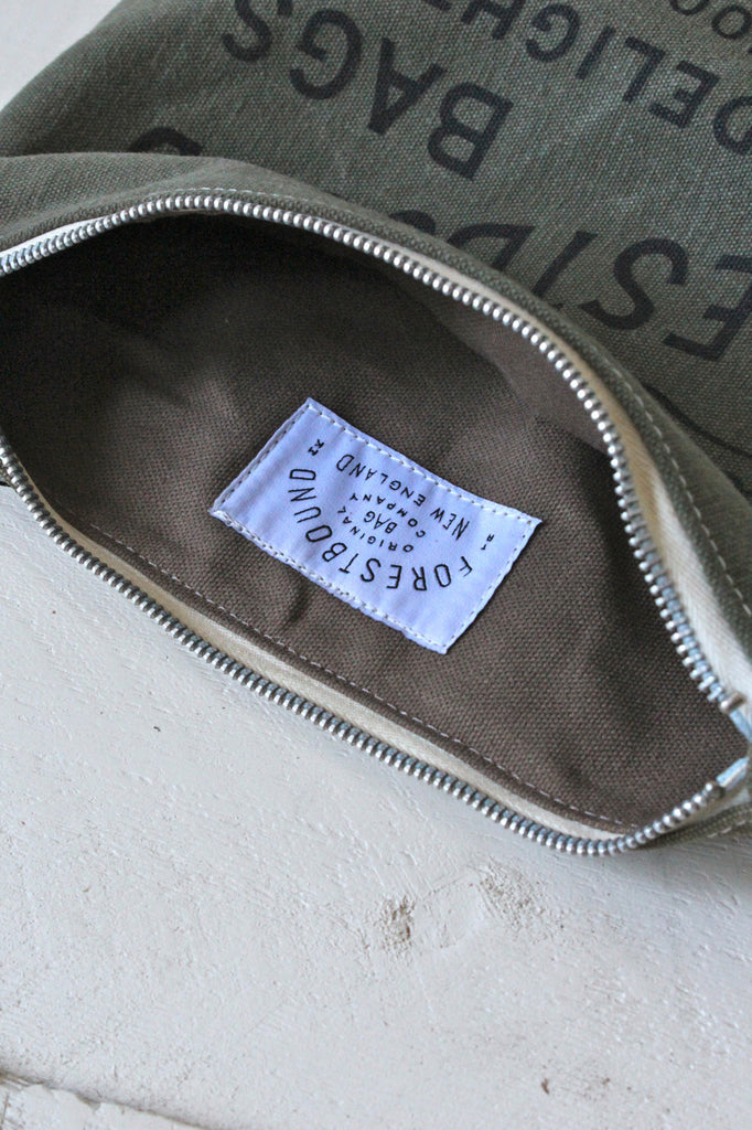 Two Toned WWII Era Canvas Logo Pouch