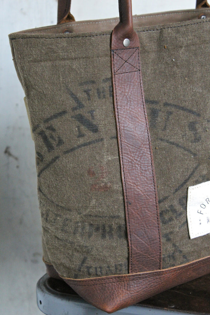 World War 1 era Waxed Canvas Carryall