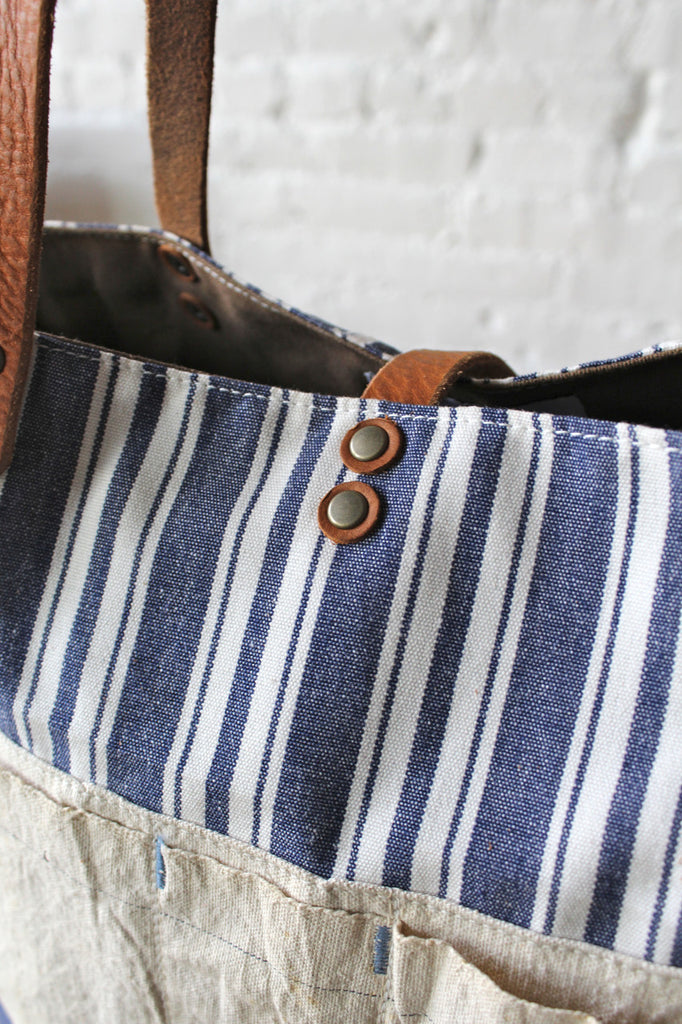 Liberty Stripe Cotton & Work Apron Tote Bag