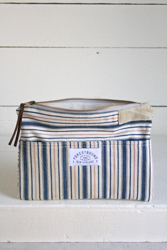 1940's era Ticking Fabric Pocket Utility Pouch