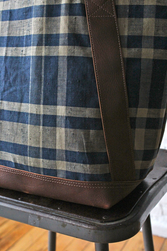 Early 1900s era Japanese Indigo Dyed Cotton Carryall