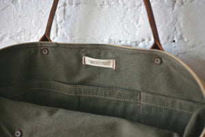 WWII era Canvas & Leather Carryall