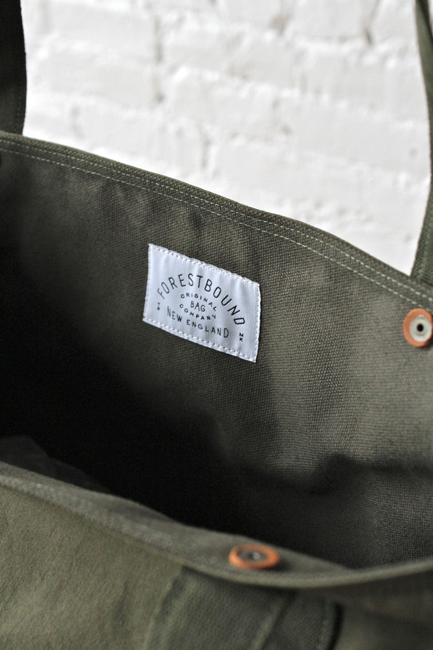 Forestbound Salvaged Canvas Logo Tote