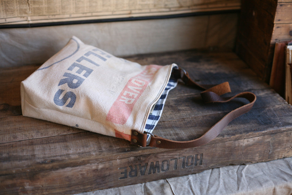 1940's era Feedsack Side Bag - SOLD