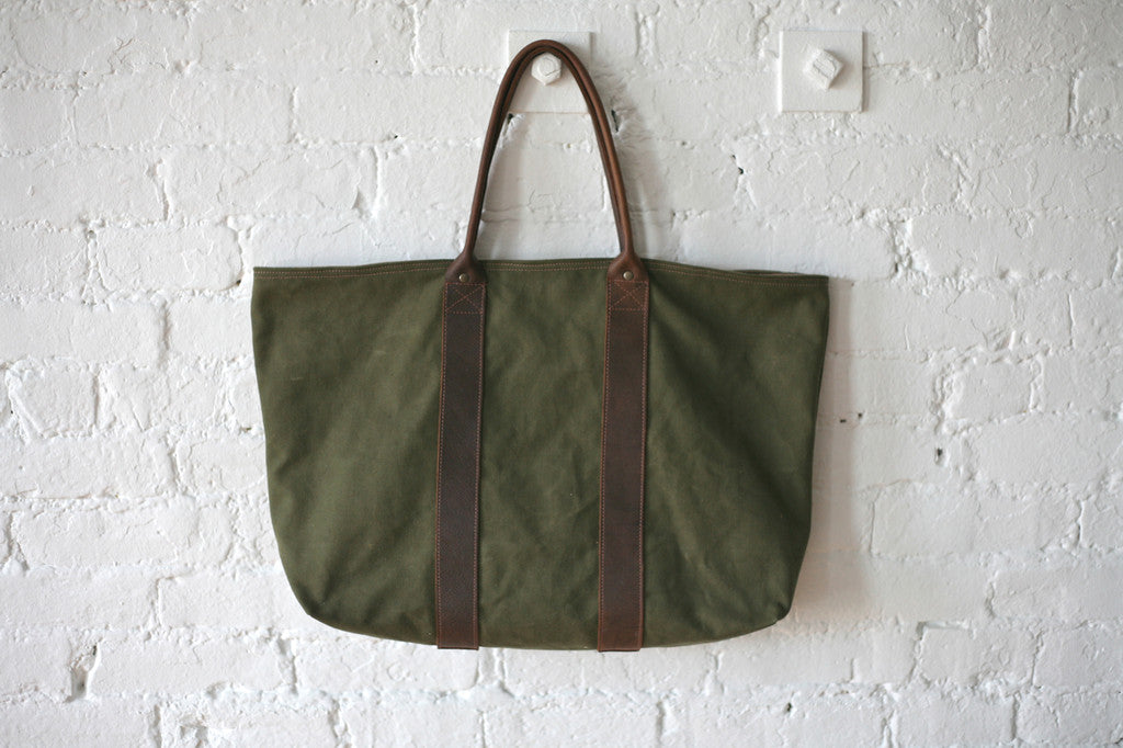WWII era Canvas & Leather Carryall - SOLD