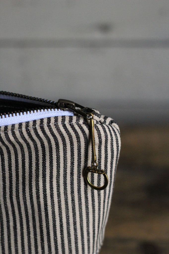 Deadstock Striped Canvas Utility Pouch