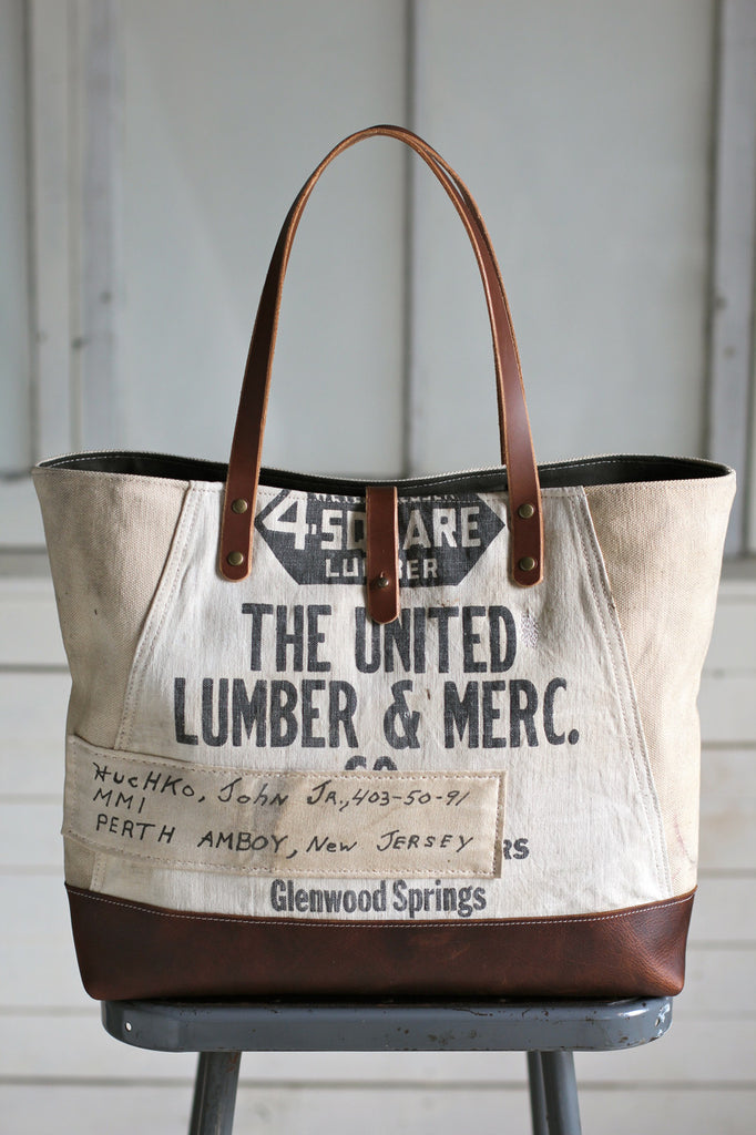 1940's era Canvas & Work Apron Tote Bag