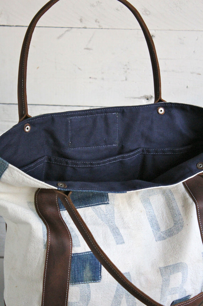 1940's era Canvas and Denim Carryall