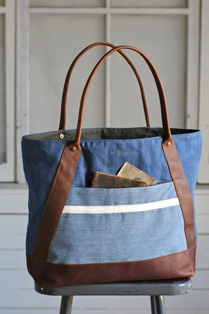 1940's era Denim & Work Apron Carryall