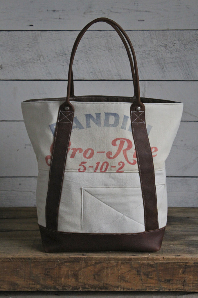 1950's era Patched Feed Sack Carryall