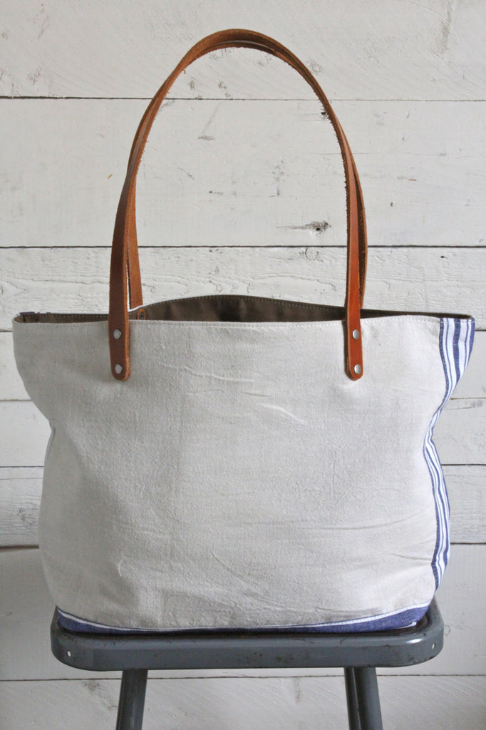 1950's era Pieced Canvas Tote Bag