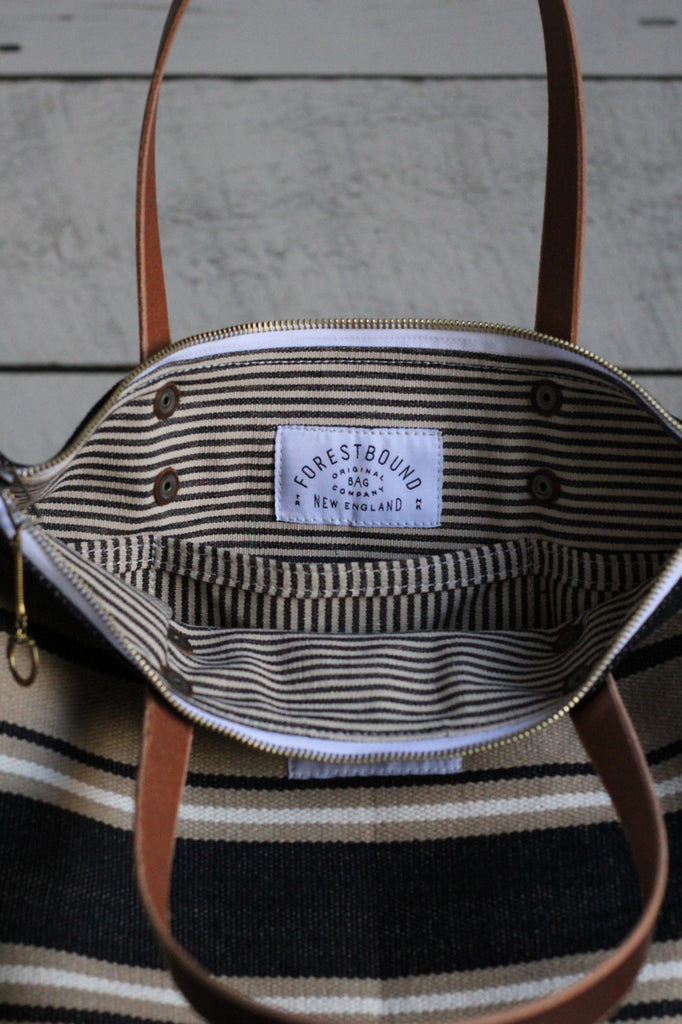 The Rambler Tote / Woven Stripe