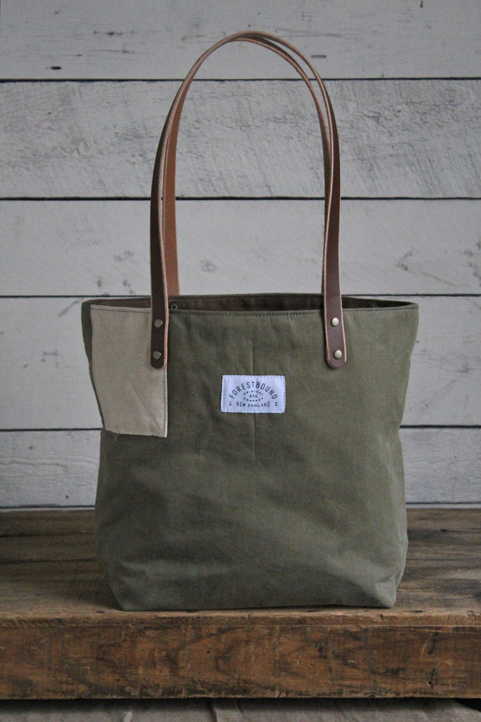WWII era Canvas & Work Apron Tote Bag