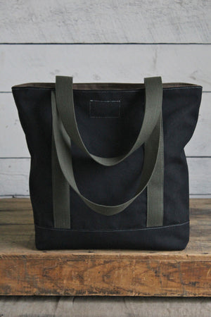 Salvaged Black Canvas Carryall